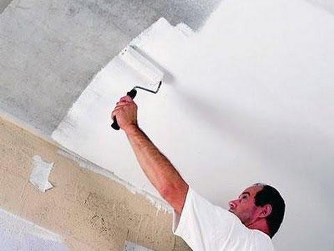 Побелка и покраска потолка