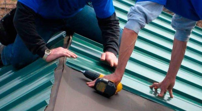 Покрываем крышу профнастилом